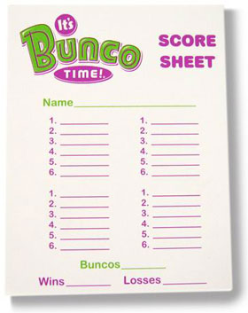 bunco score sheets 301